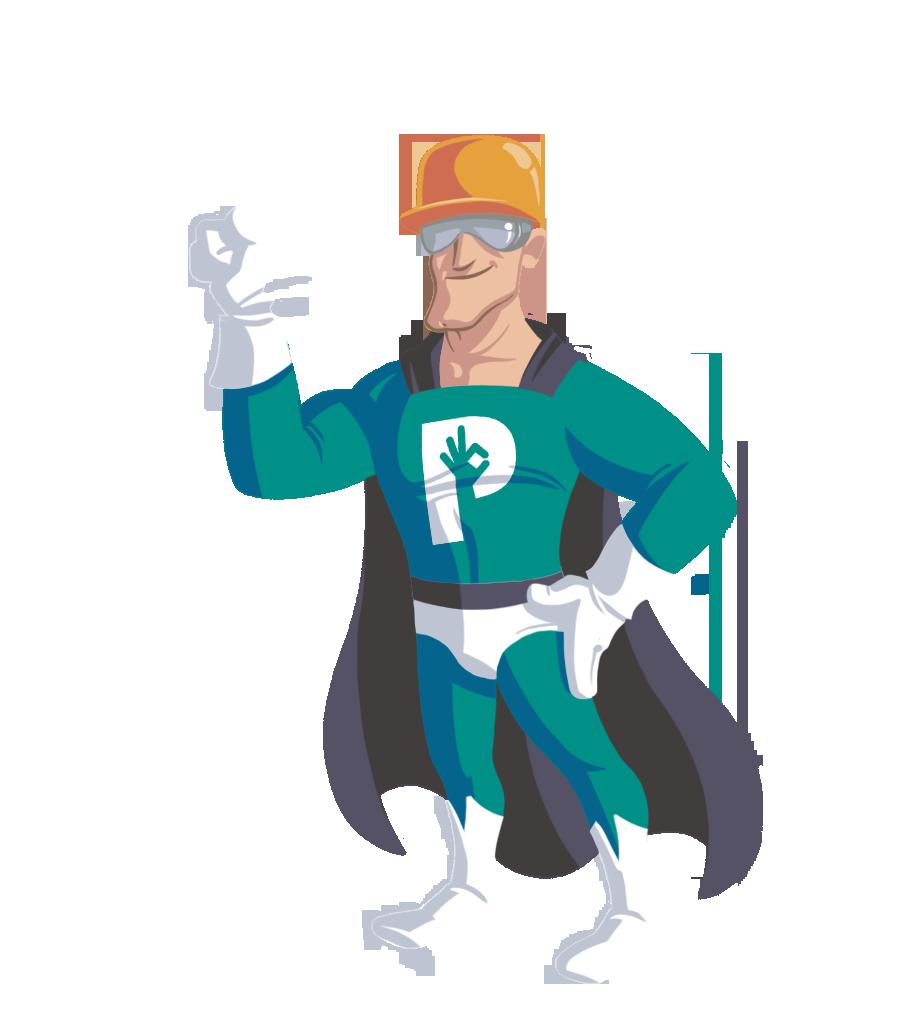 Superhéroe de la seguridad y salud