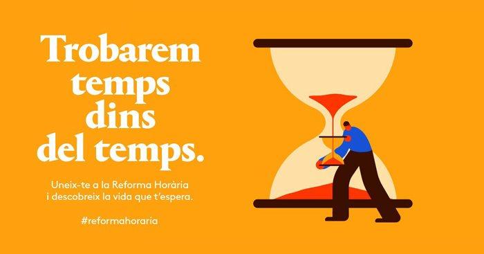 Ei! Per què no afegim més temps a la nostra vida? Si canviem els nostres hàbits horaris aconseguirem trobar temps dins del temps. Descobreix la vida que t'espera a reformahoraria.gencat.cat.
