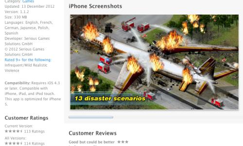 Ejemplo de Captura de pantalla de una App