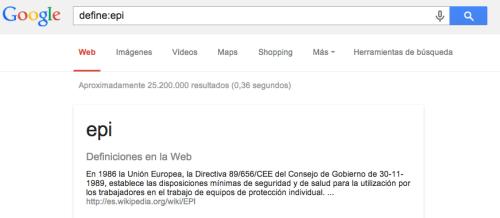Google te define lo que le pidas