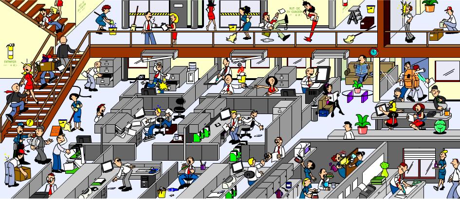 Cazadores de riesgos un interesante juego sobre seguridad for Prevencion de riesgos laborales en la oficina