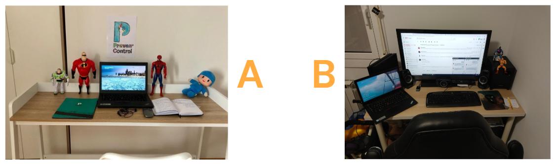 Comparativa de imágenes a través de videoconferencia de un Safety Day virtual