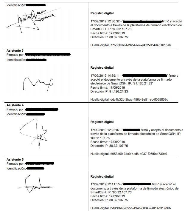 Gestión ISO 45001 Circuito de firmas