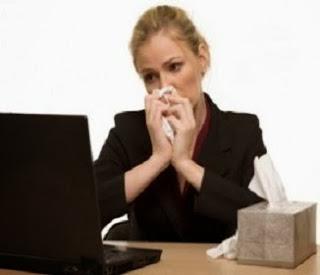Trabajador enfermo