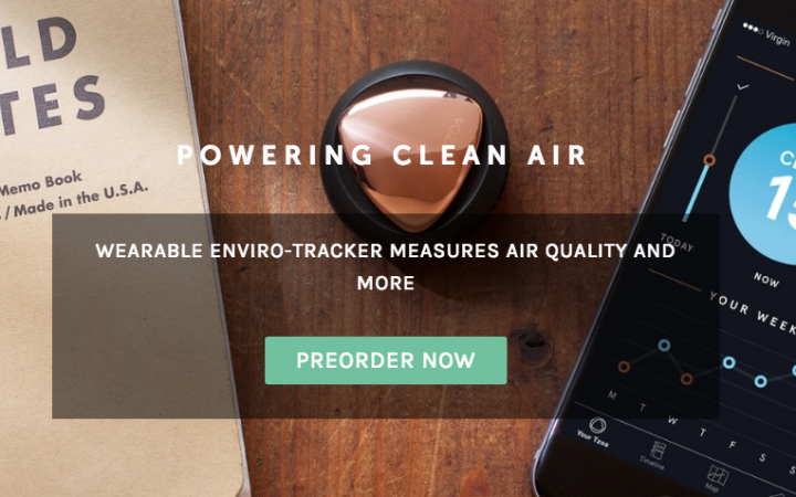 wearable de polución