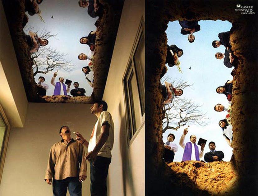 Campaña de publicidad contra el cáncer provocado por el tabaco